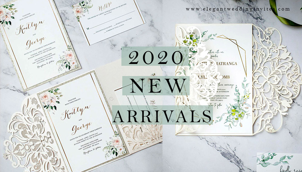 new wedding invitations for 2020 brides