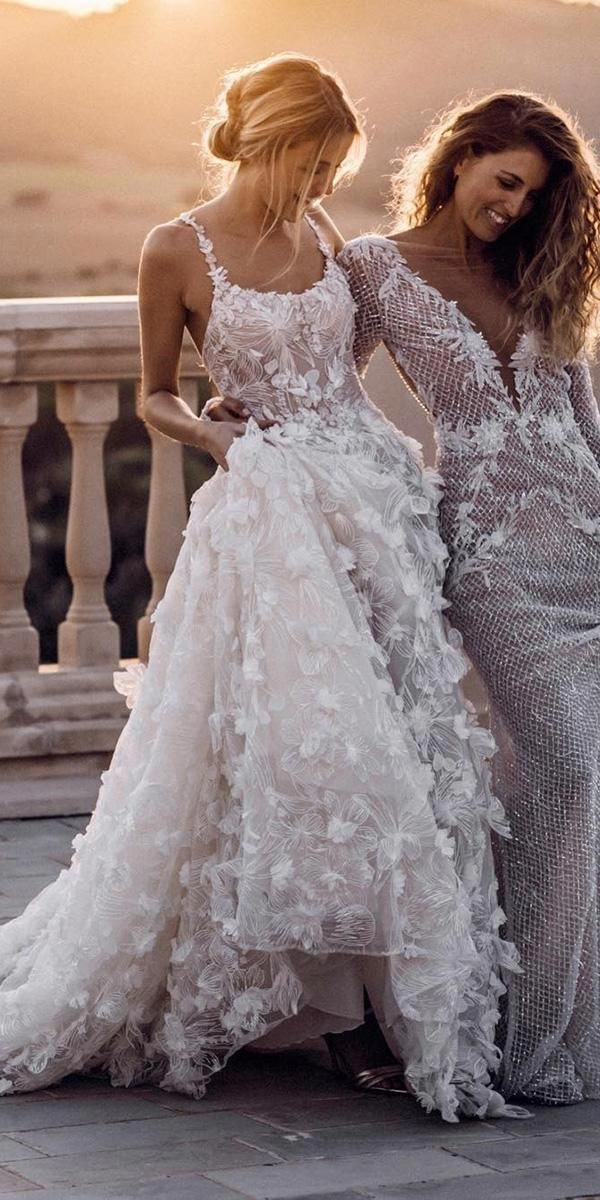 romantic 3d lace flower wedding dresses ideas