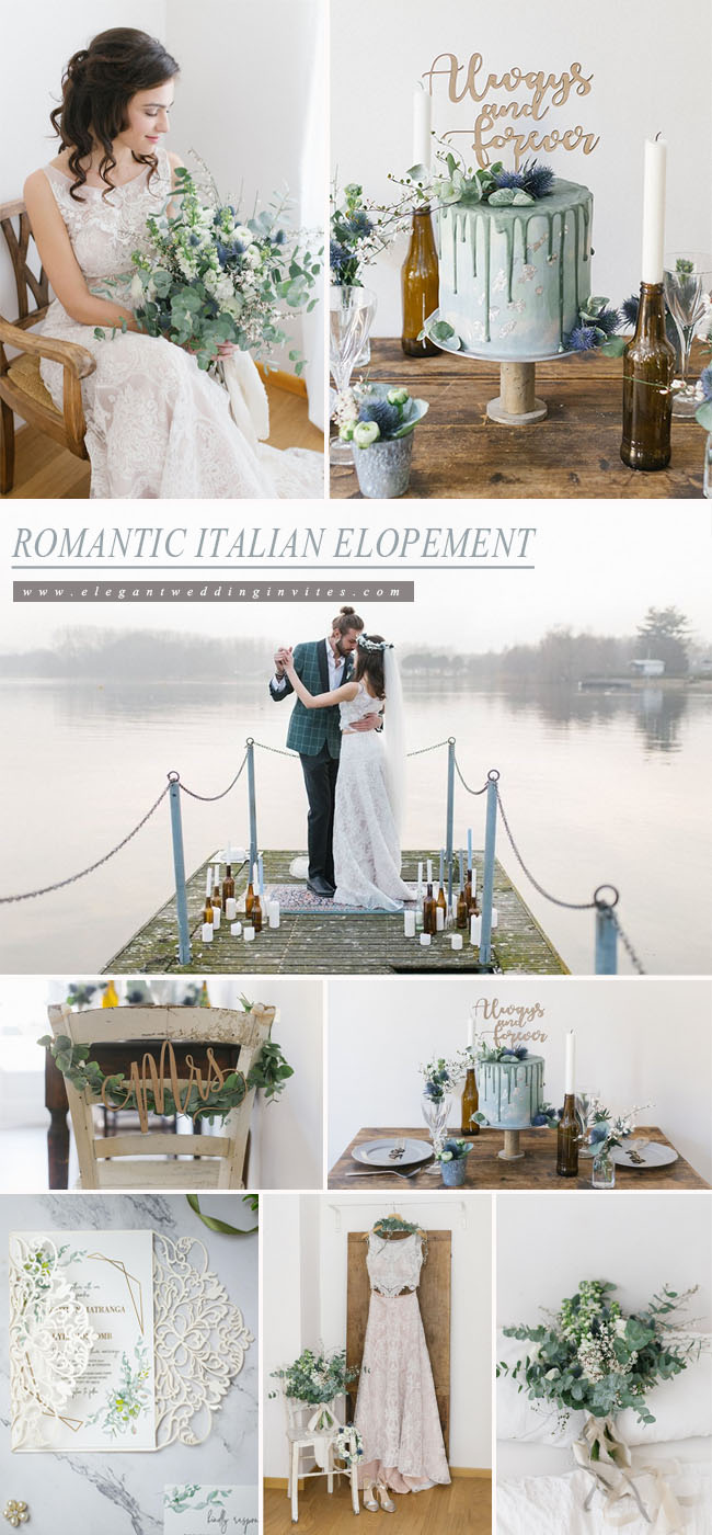 romantic italian elopement wedding color inspiration