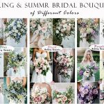 50+ Gorgeous Spring & Summer Bridal Bouquets for Different Wedding Colour Scheme