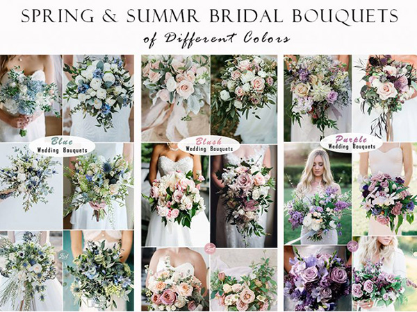 spring and summer wedding bouquets