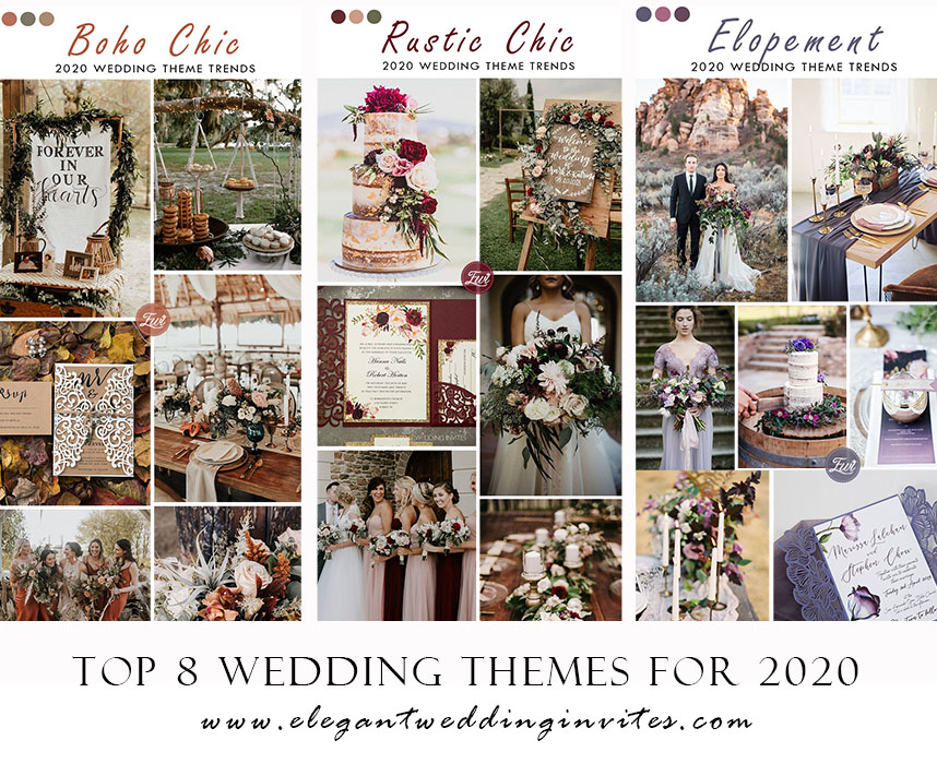 top 8 wedding theme trends unveiled for 2020