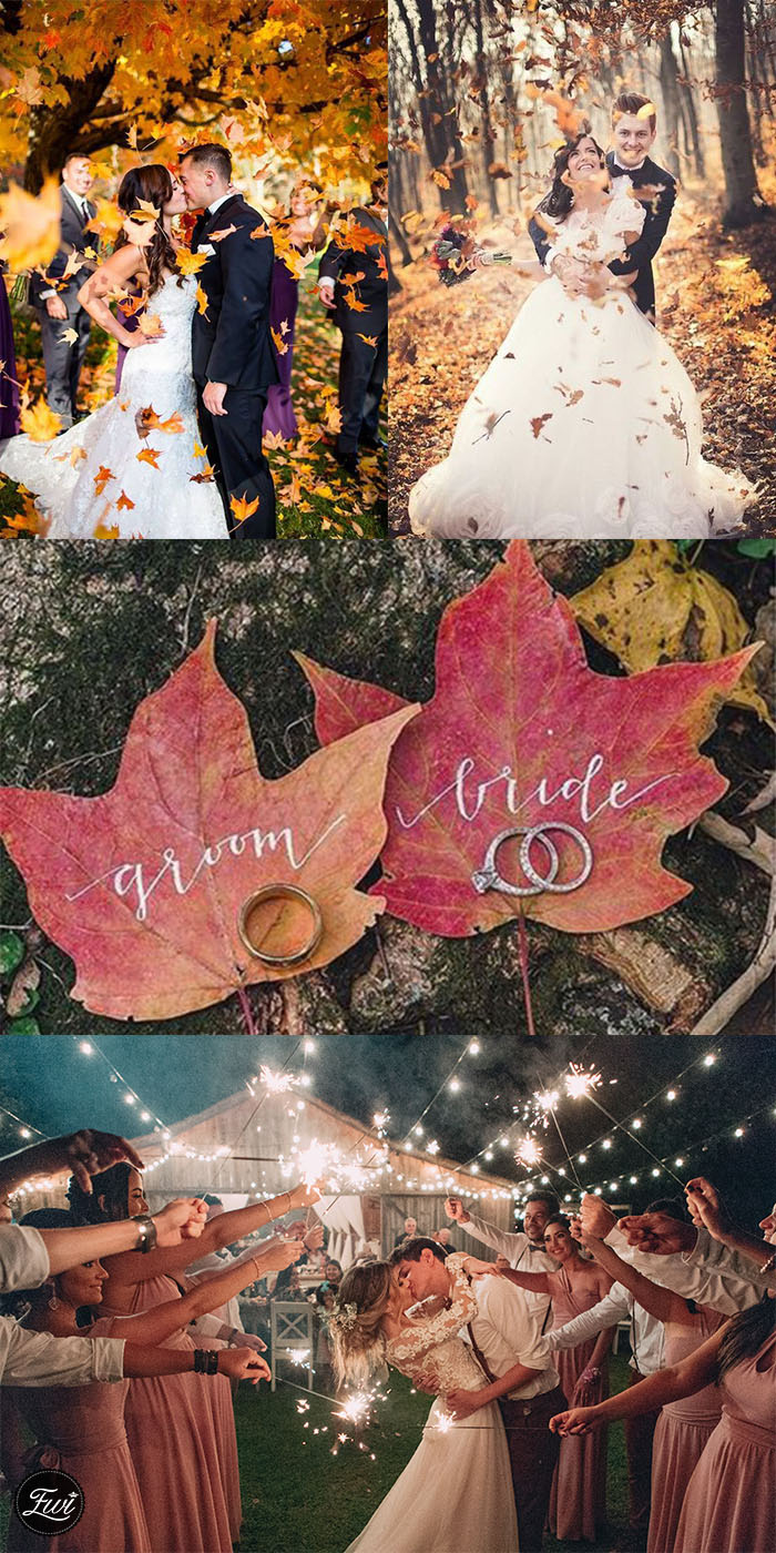 2020 Trend fall unique creative wedding photography
