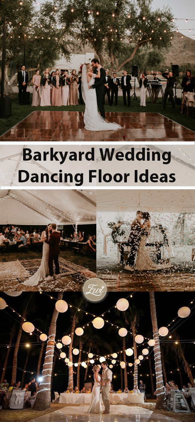 backyard wedding dancing floor ideas
