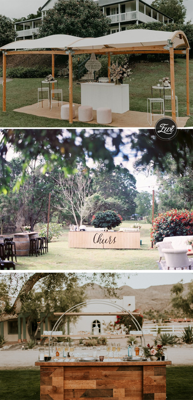 backyard wedding ideas for cocktail and wedding bar ideas