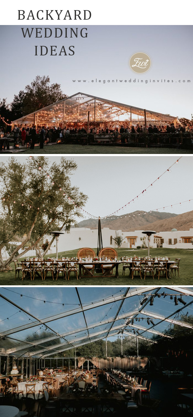 backyard wedding ideas for reception ceremony