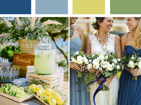 beach destination wedding colors