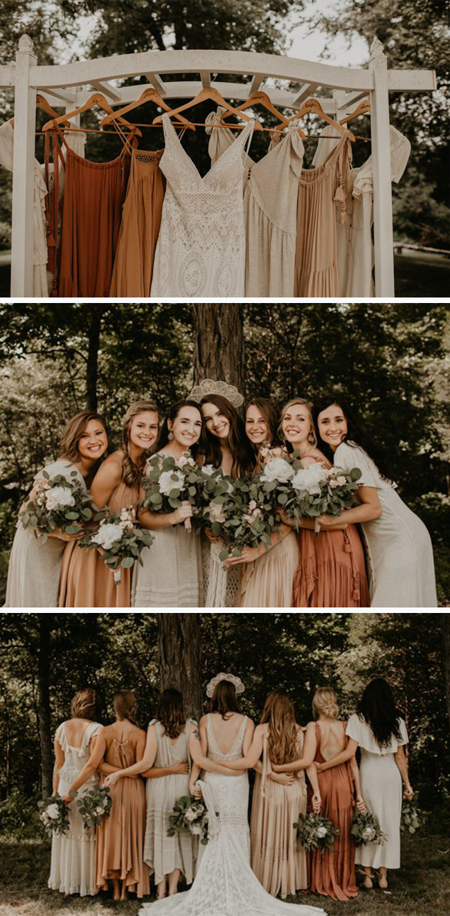 fall bridesmaid dresses for outdoor backyard wedding