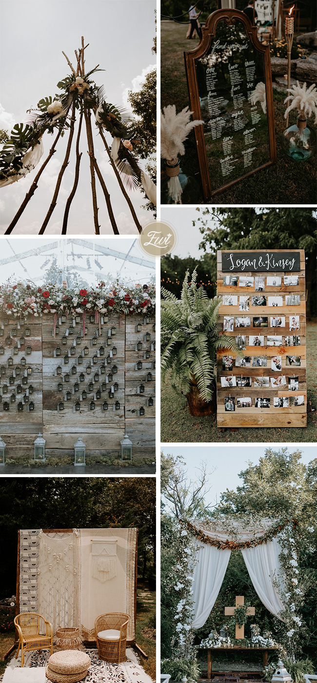 fall outdoor backyard wedding decor ideas