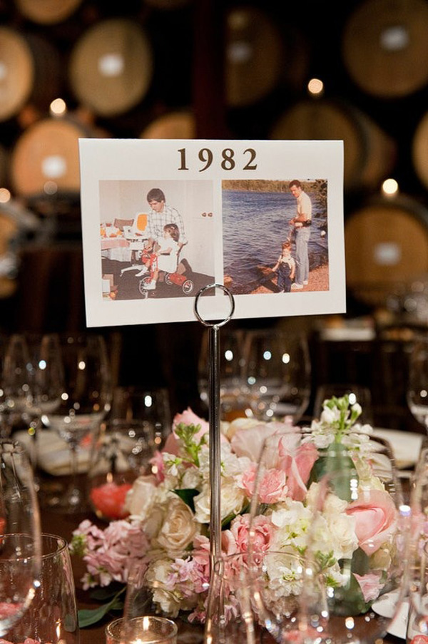 lovely table names wedding photo decoration ideas