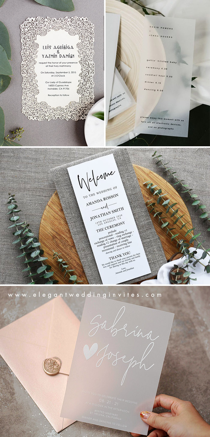 minimal and simple wedding invitations for modern brides