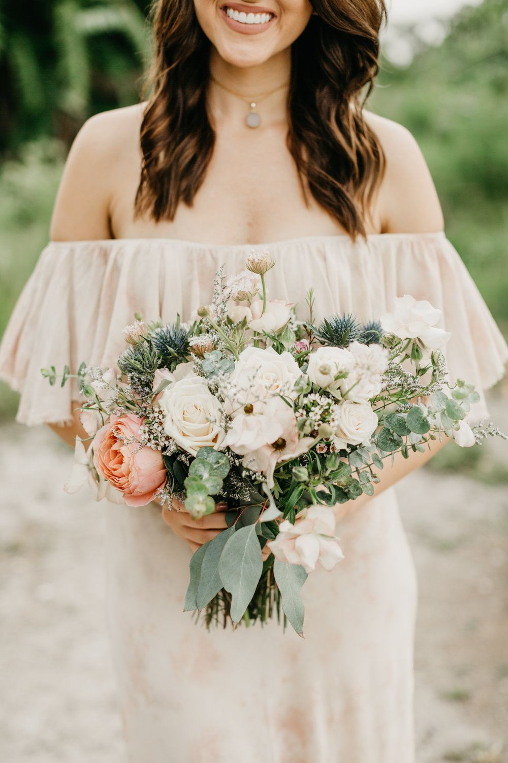 natural greenery wedding bouquet ideas