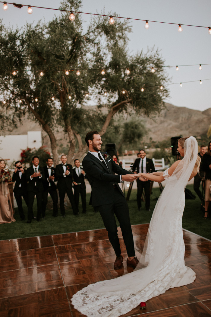 romantic backyard wedding dancing floor ideas
