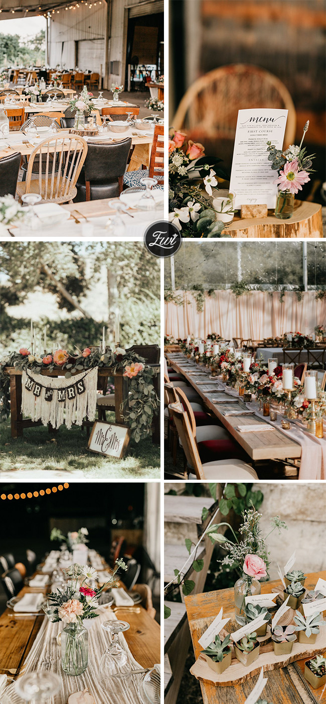 rustic backyard wedding ceterpieces and favors ideas