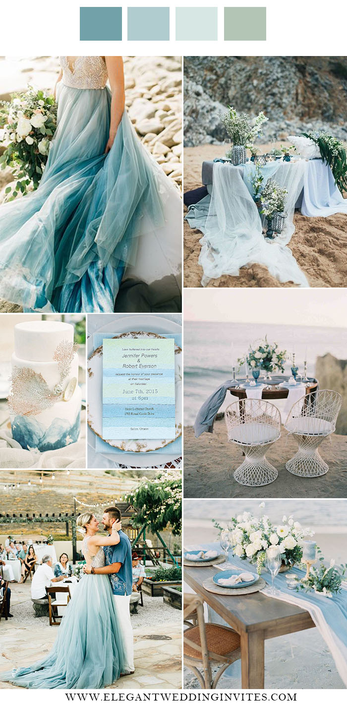 shades of blues fine art vintage wedding color for destination weddings