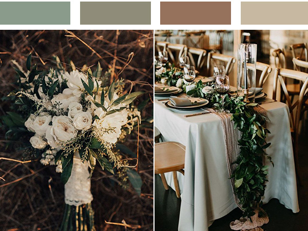 stunning neutral wedding color combos