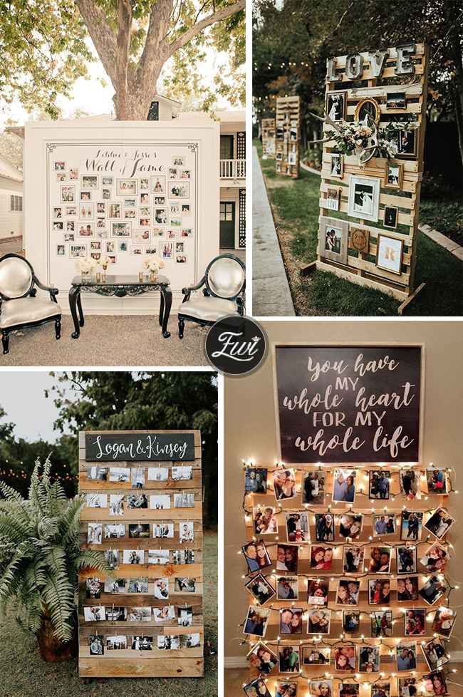 wedding photo display ideas for pallet collages
