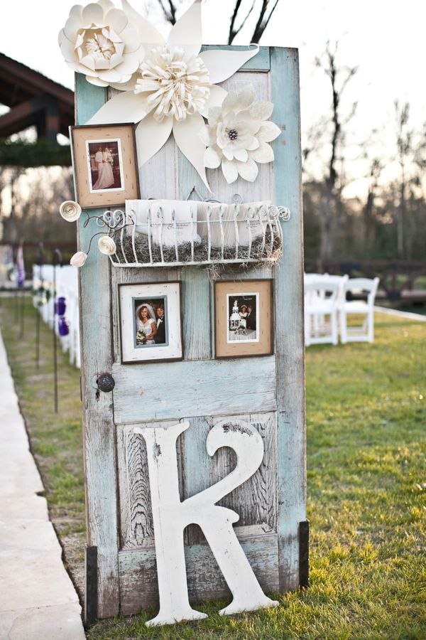 wedding photo display shutter upcycle ideas