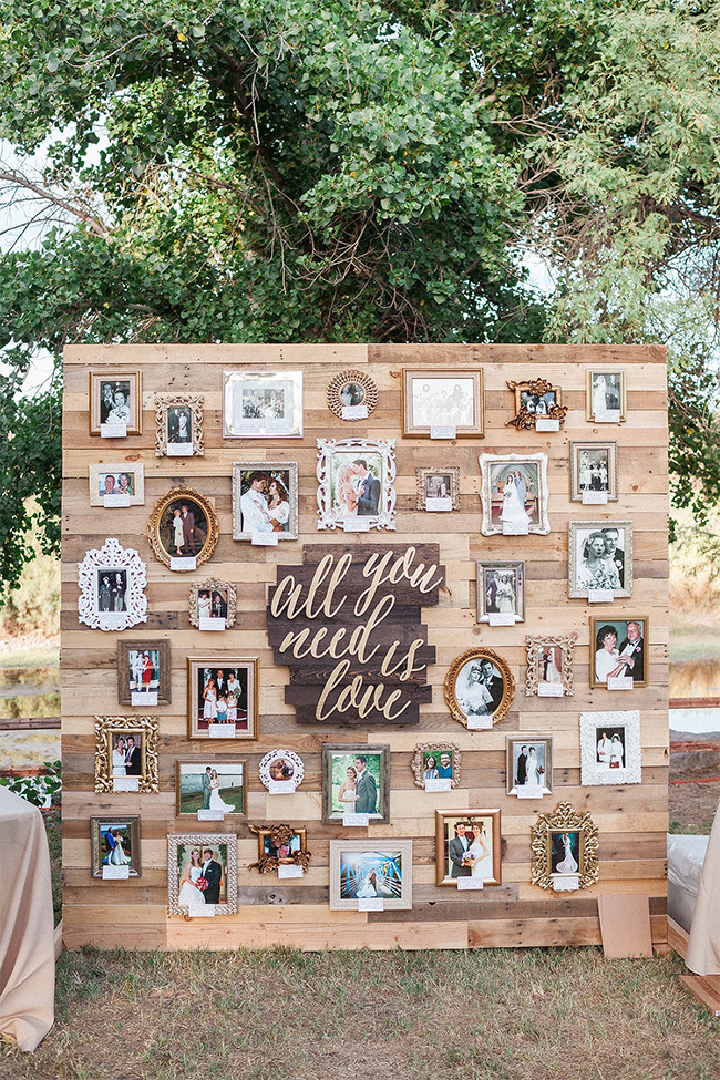 wooden pallet collages wedding photo diaplay ideas