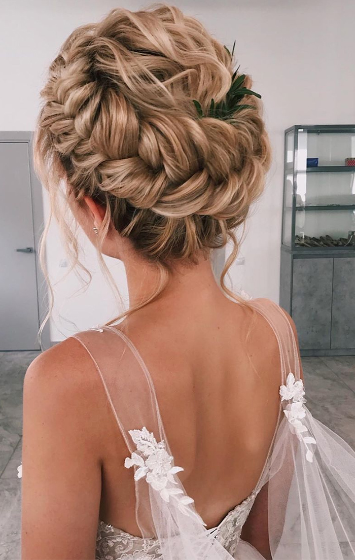 best long hair wedding updo ideas