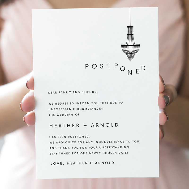 22 best wedding invitations & matched change the date card