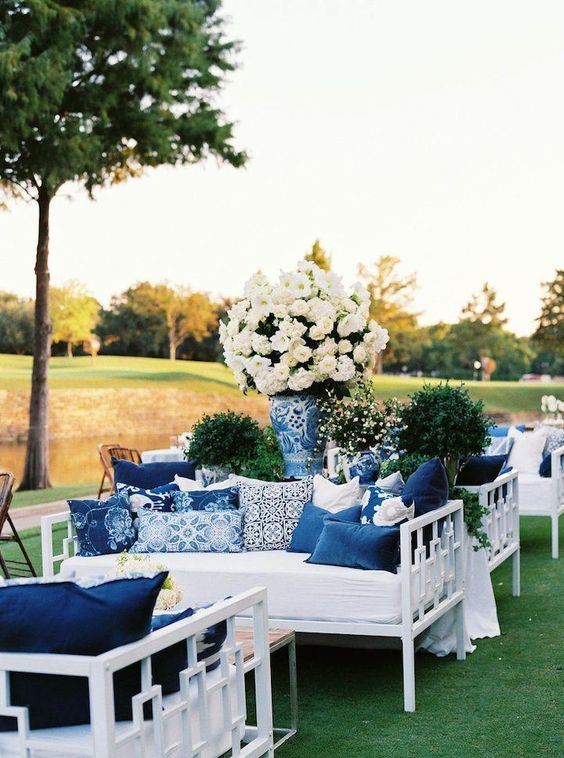 classic blue wedding lounge ideas for your something blue