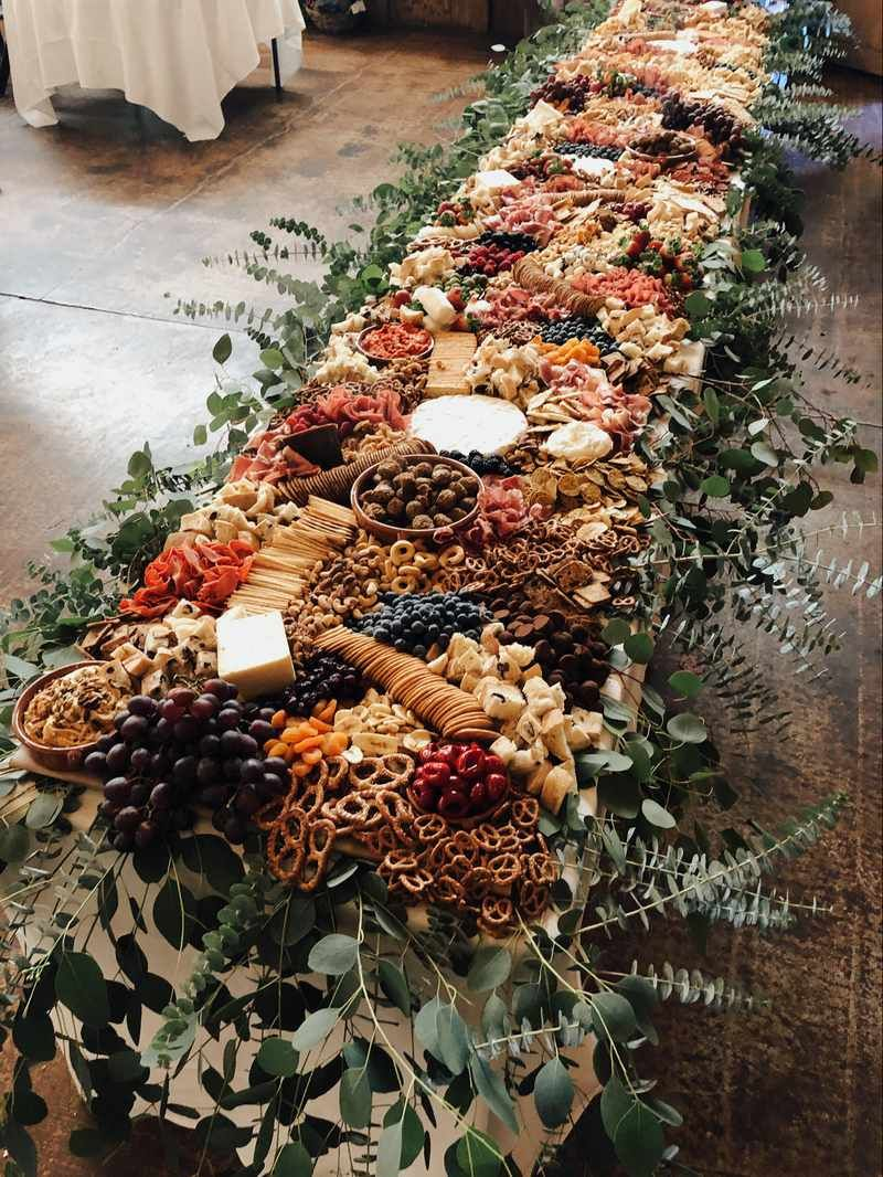 colorful grazing table wedding ideas for fall season