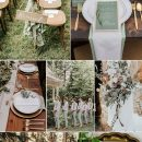 6 Beautiful Wedding Colors with Neutral Sage Green & Matching Invitations