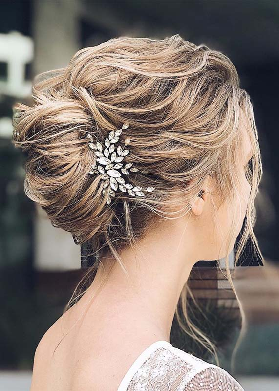 elegant french twisted bridal updo hairstyles