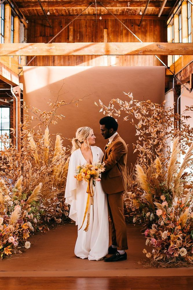 fall floral wedding ceremony ideas