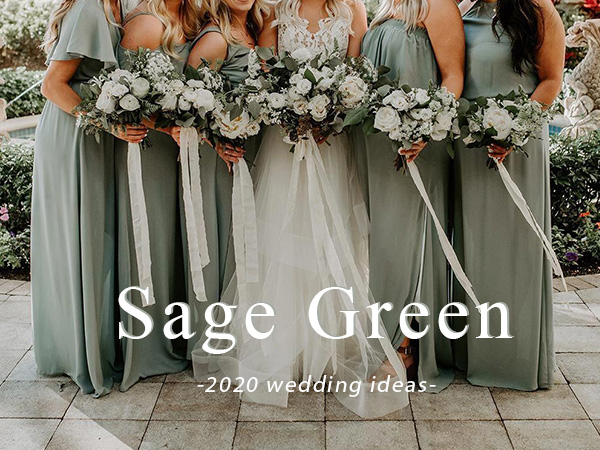 hot sage green wedding color theme