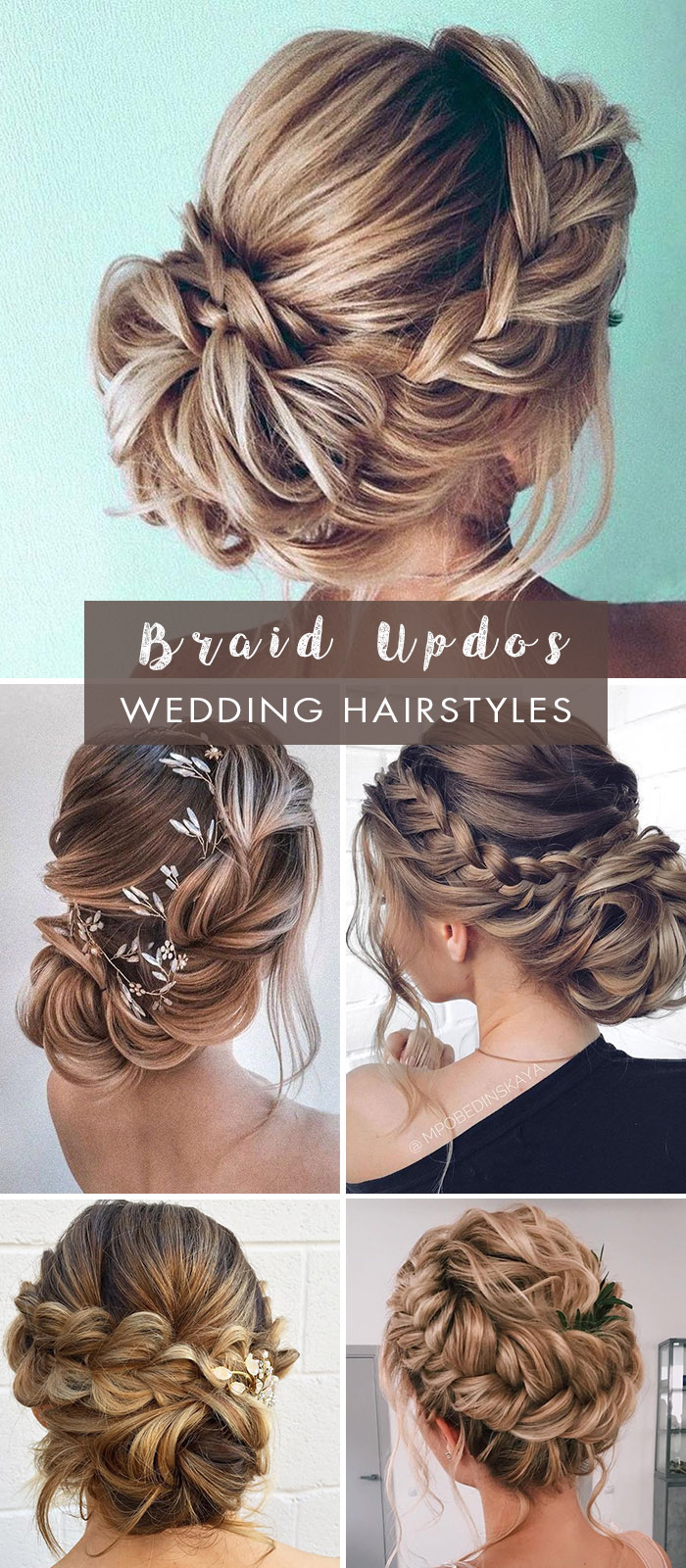 loose braid updo bridal hairstyles