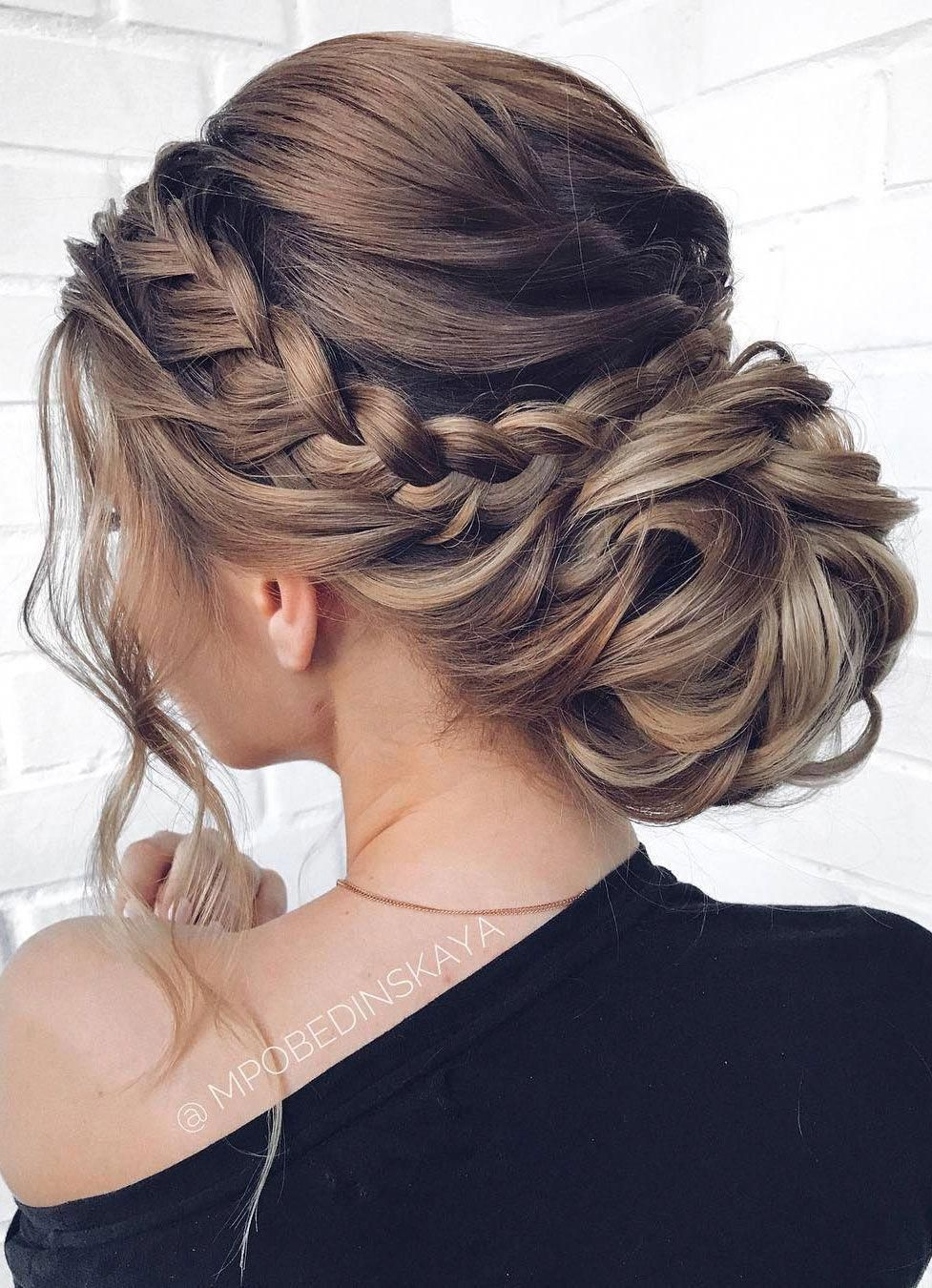 medium length braid wedding updo hairstyles