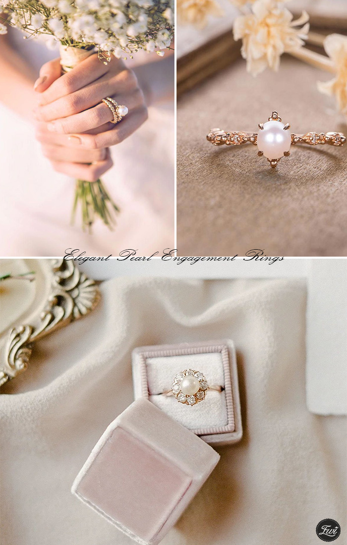 pear engagement ring with wedding band