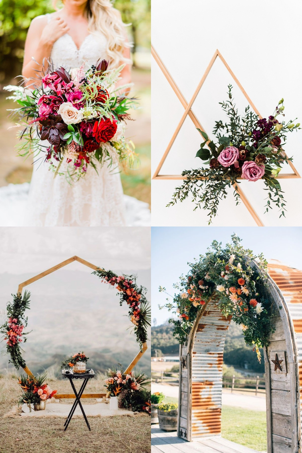 rustic fall wedding idea with flower