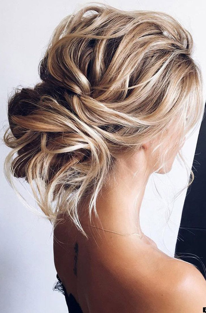 simple loose bridal updo ideas