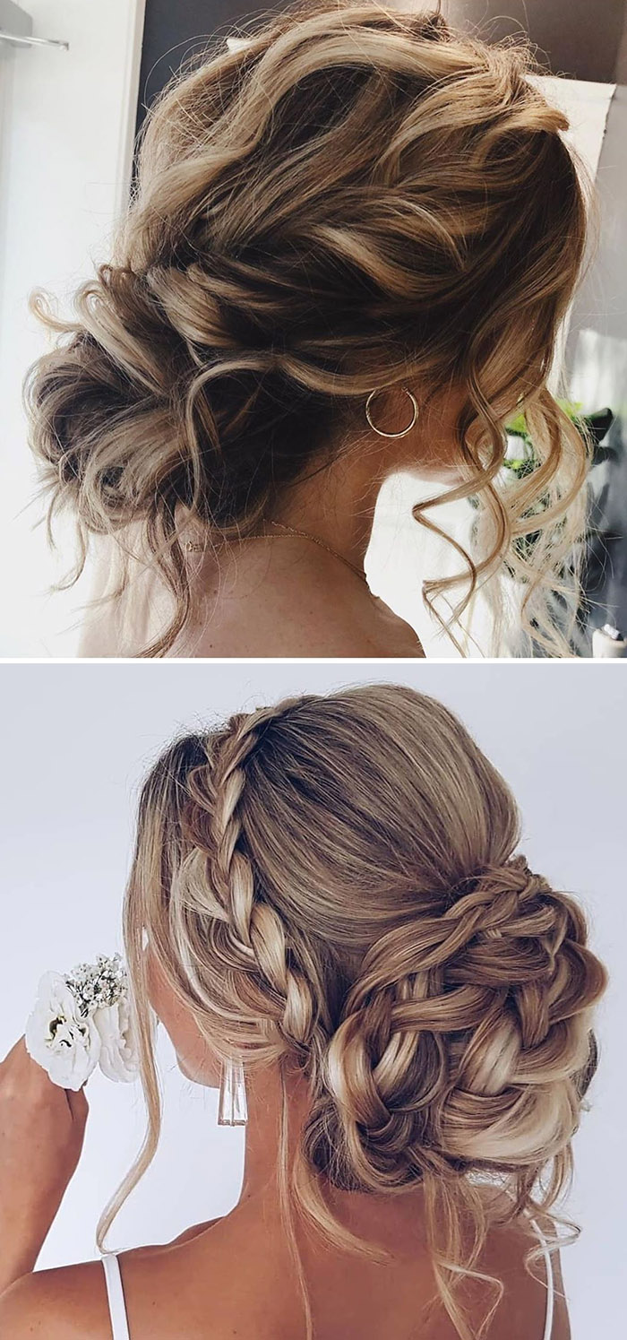 stunning messy bridal updos for long hair