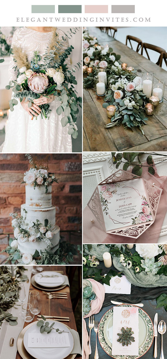 the best sage and blush rustic chic wedding theme