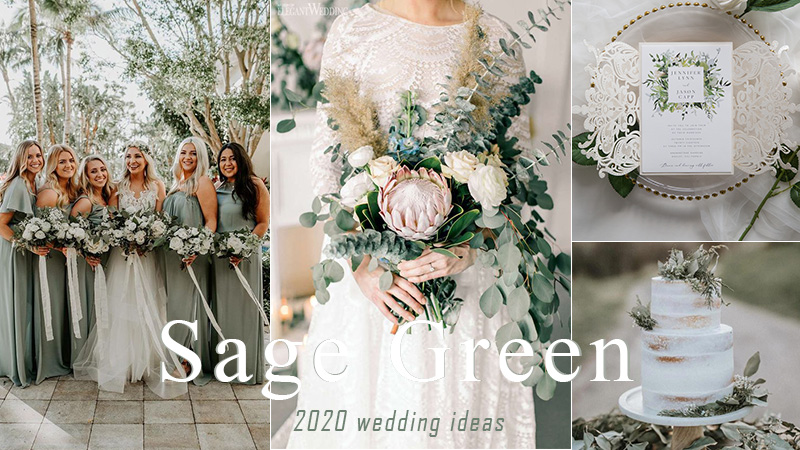 trending sage green wedding color ideas