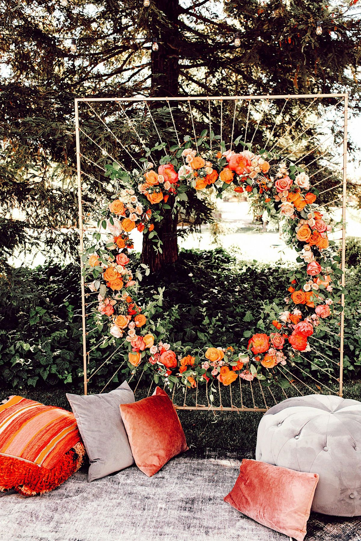 unique rustic wedding arch ideas