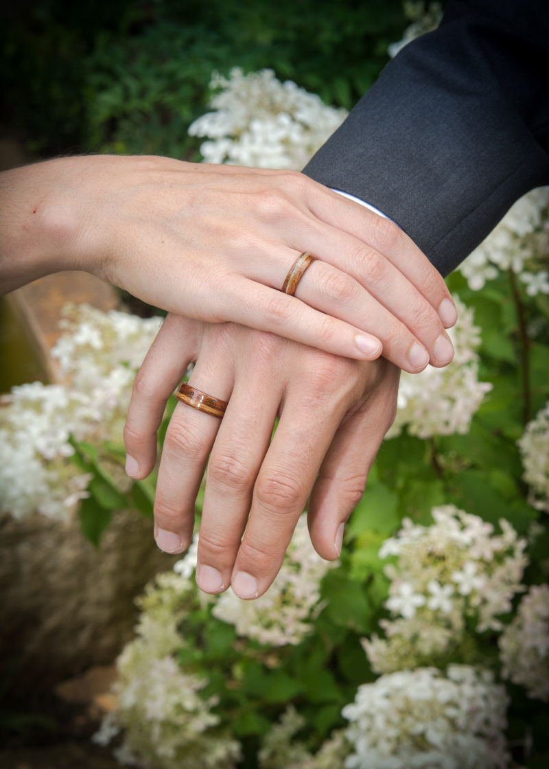 wooden wedding rings custom wood band