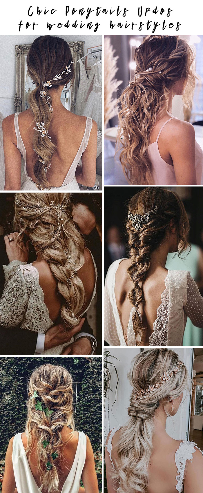 20 chic ponytail updos for wedding hairstyles