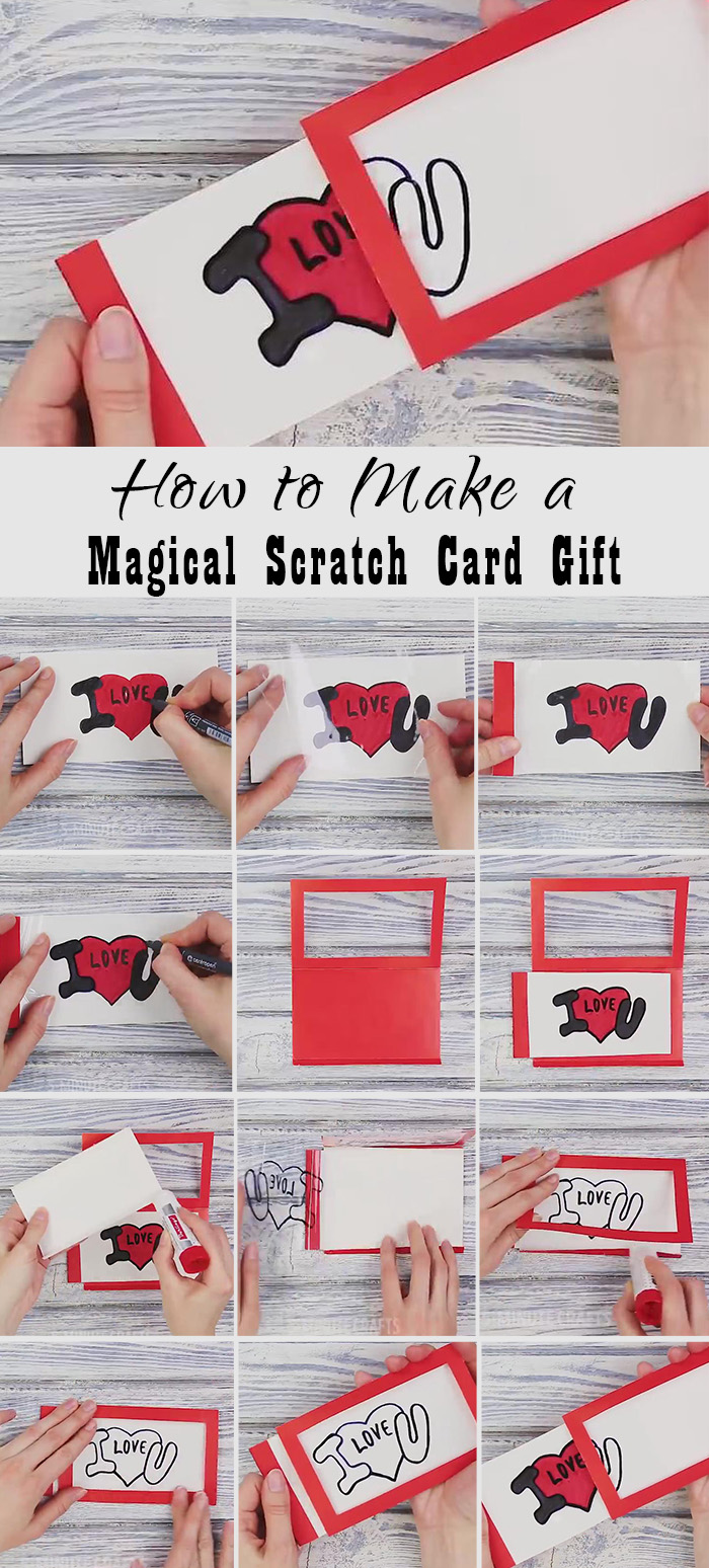 DIY magical scratch card gifts for your bridesmaids