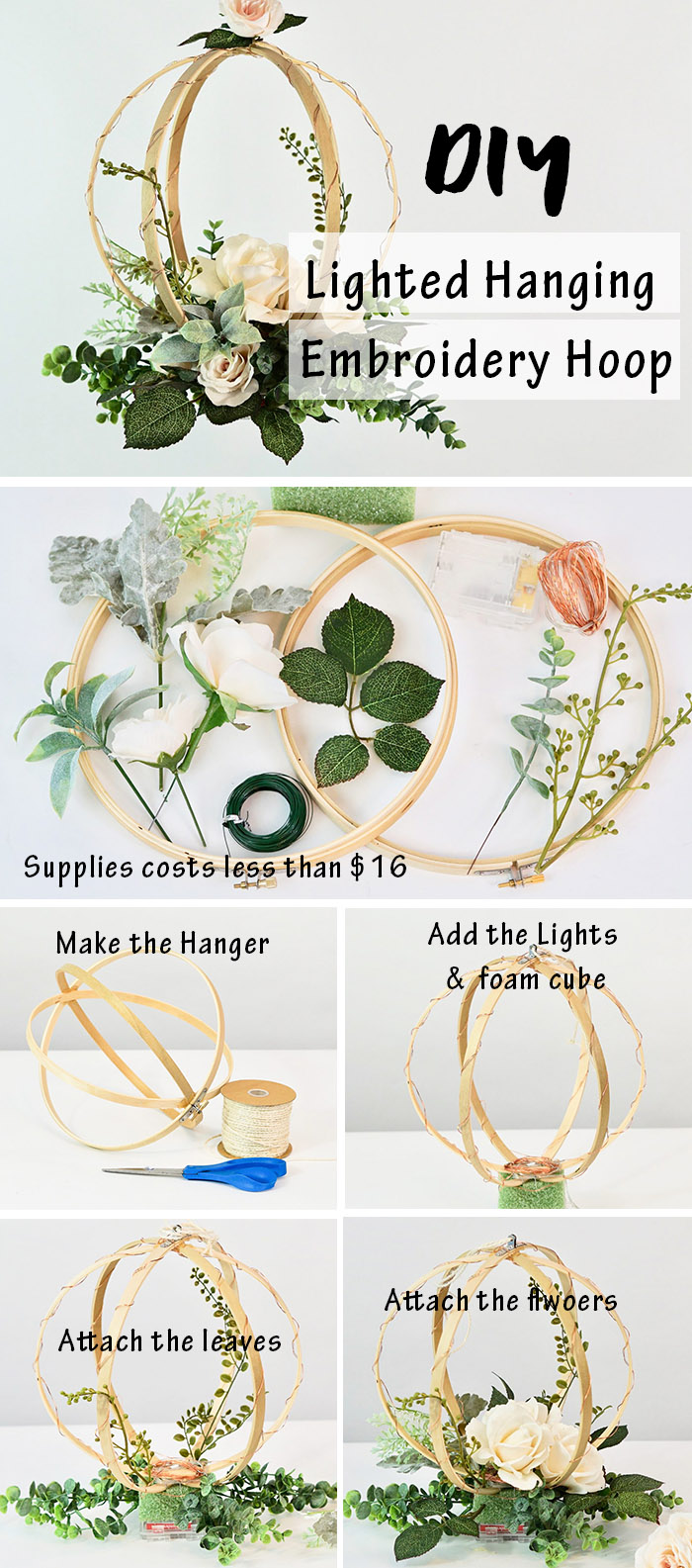 DIY wedding hanging decor costing less than $20 for your wedding day