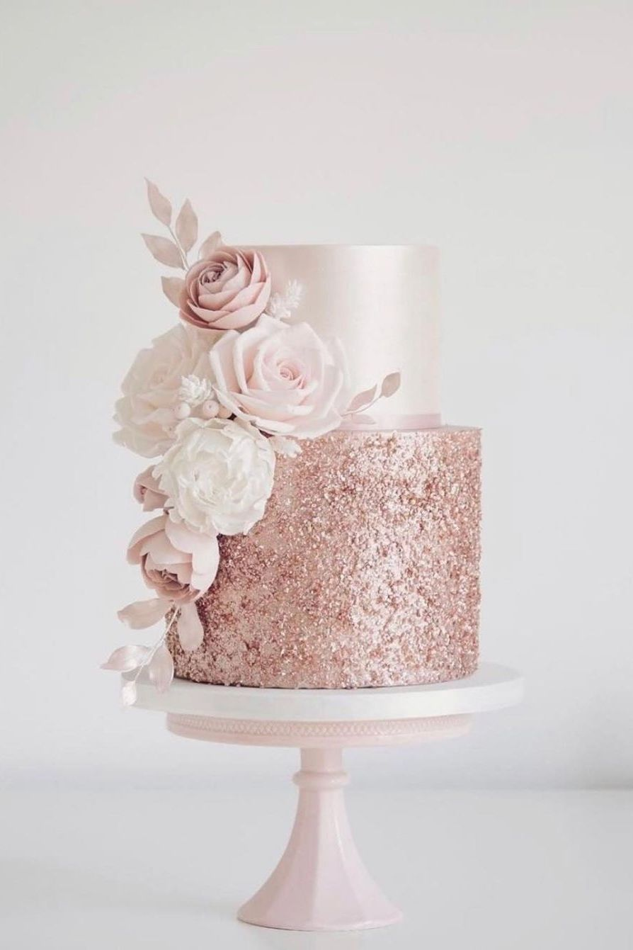 amazing wedding cakes luxury wedding cake with rose gold