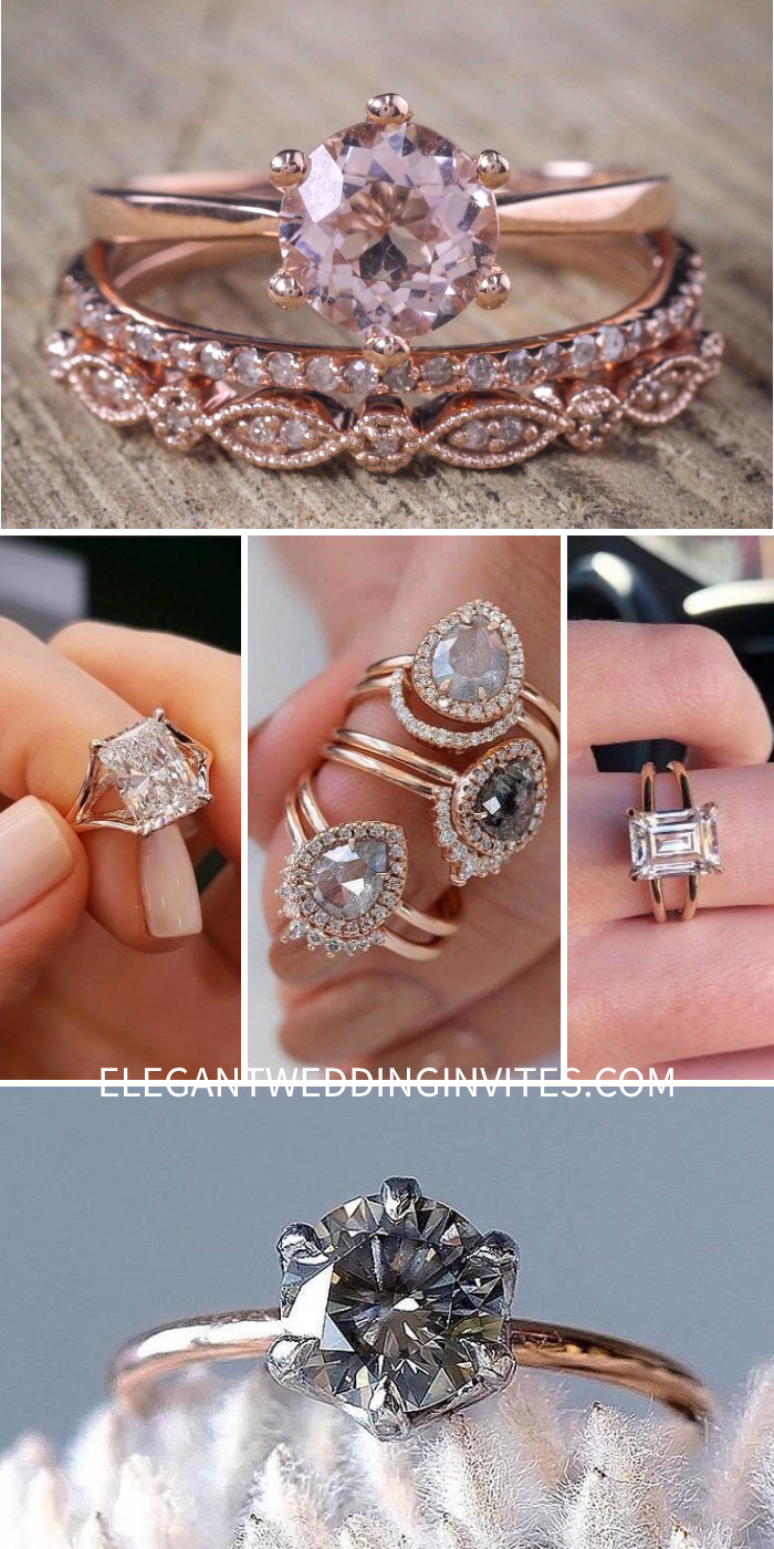 charming rose gold engagement ring ideas simple engagement rings emerald cut engagement rings split shank engagement rings diamond engagement rings (1)