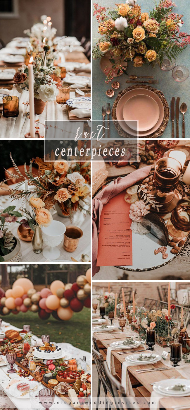 country rust wedding centerpieces ideas in trending