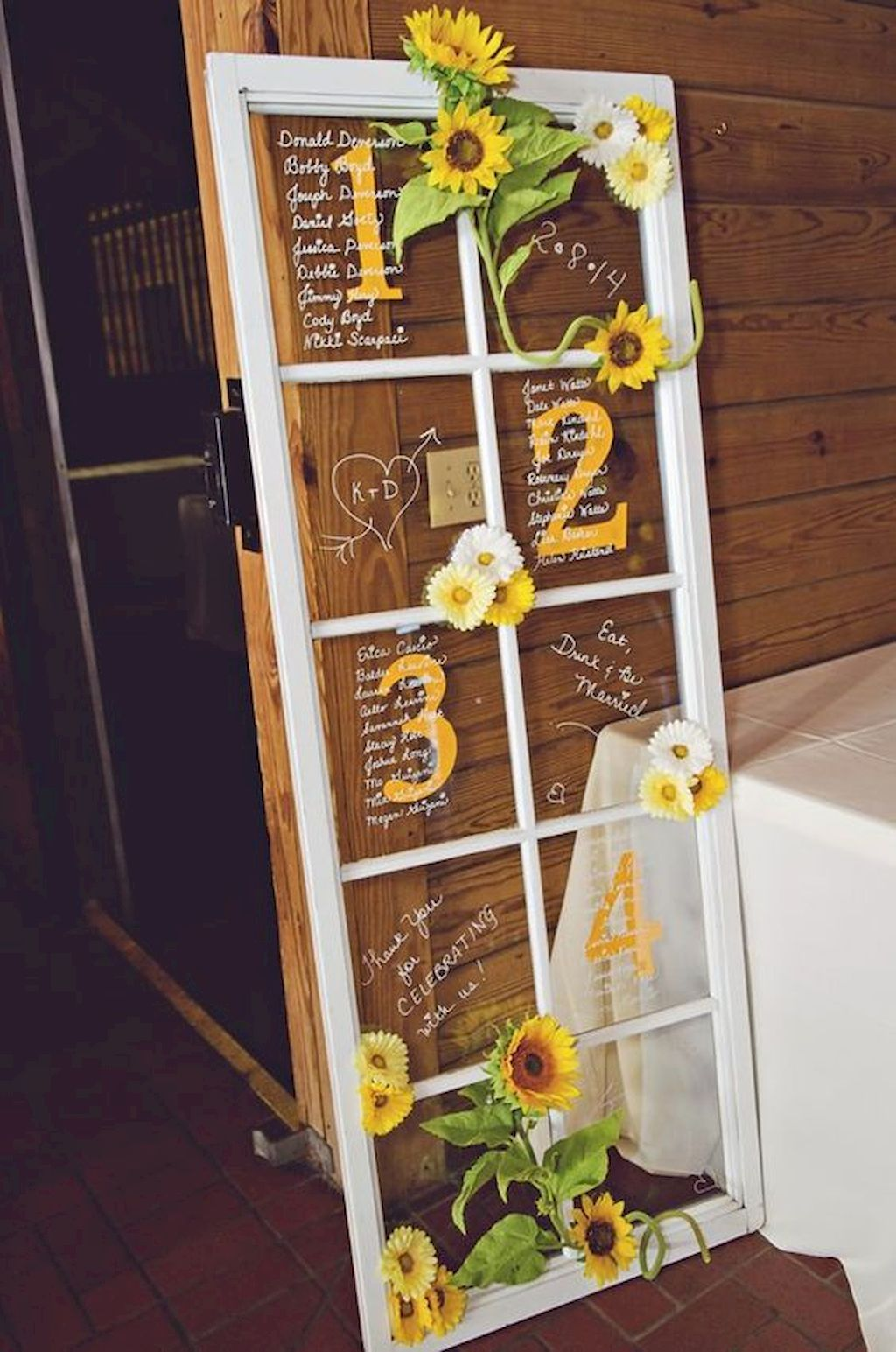 creative diy sunflower country rustic wedding sign board ideas