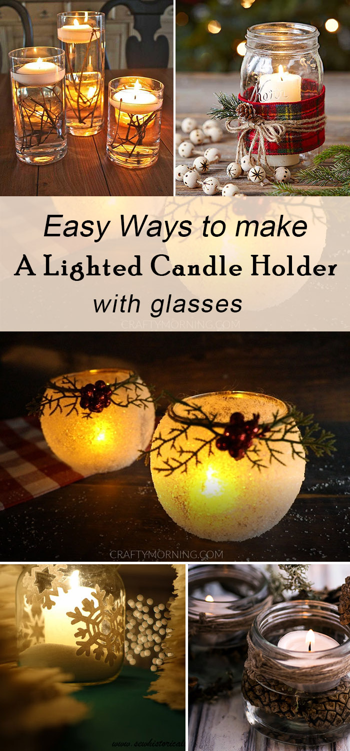 easy and cheap ways to make lighted candle holders for your fall and winter wedding