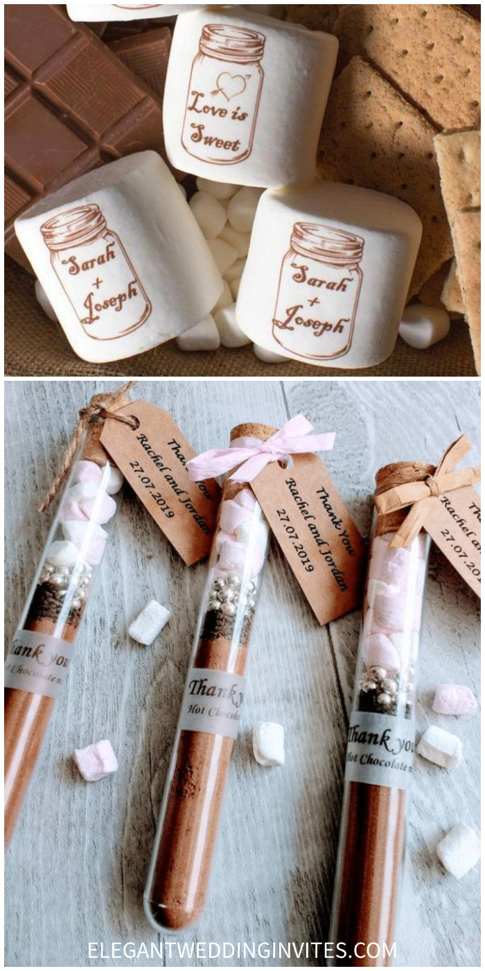 hot chocolate wedding favour with personalised and creative ideas